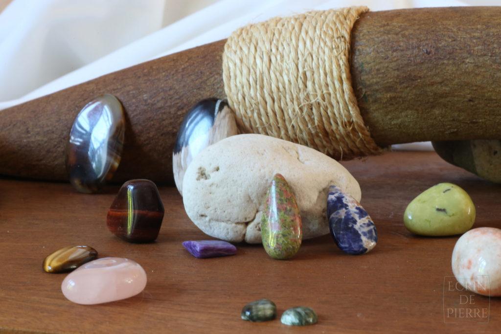 pierres fines utilisées dans l'atelier écrin de pierre