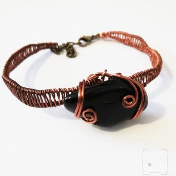 ecrin de pierre bracelet tourmaline et cuivre