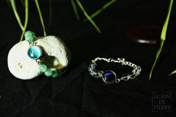 bracelets cabochon ecrin de pierre