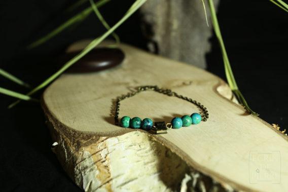 bracelet chrysocolle Ecrin de pierre