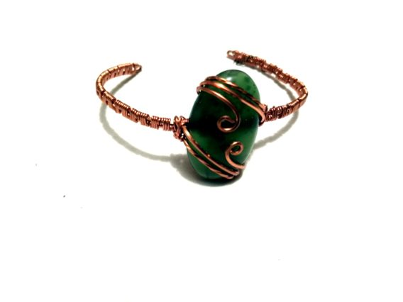 écrin de pierre bracelet pierre naturelle jade néphrite cuivre